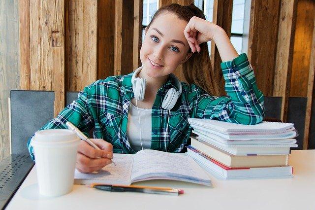 spokojená studentka