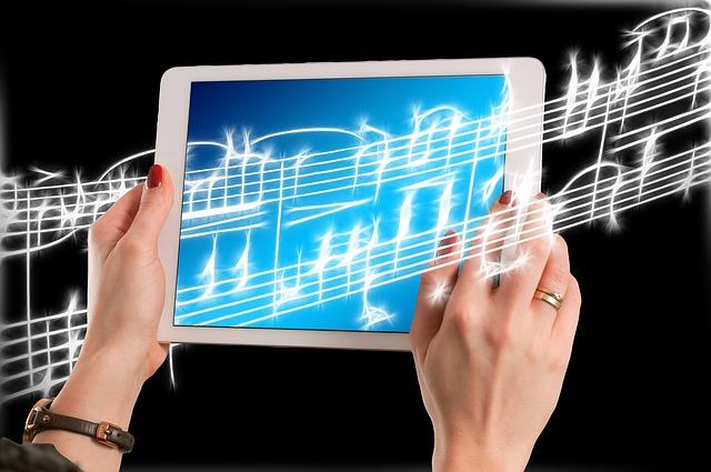 hudba v tabletu
