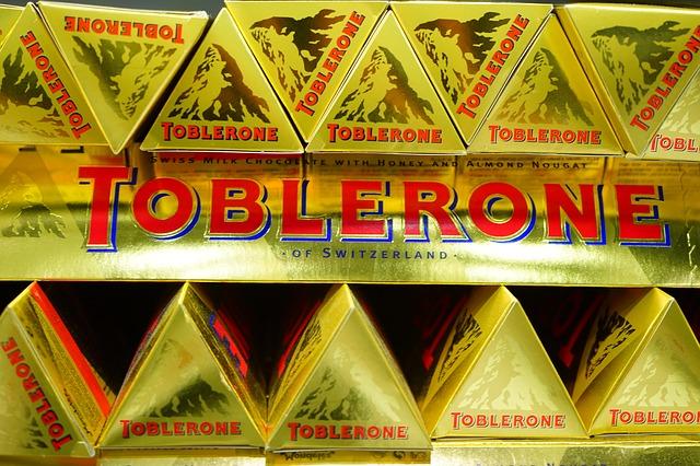 čokoláda Toblerone