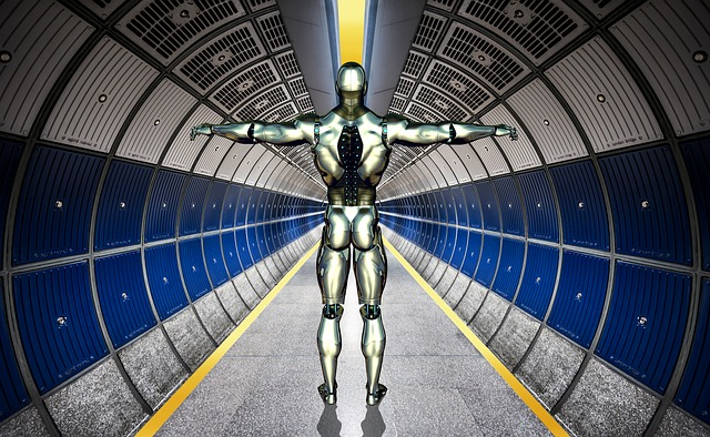 robot v tunelu