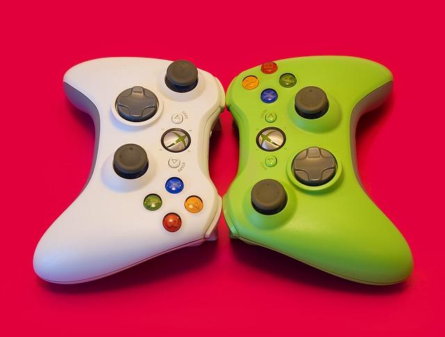 barevný joystick