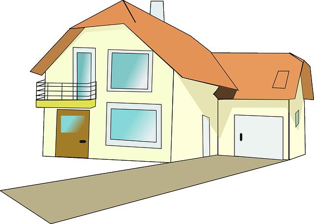 Rodinný dom, náčrt, ilustrácia